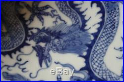 Fine porcelain plate with YONG ZHENG brand marked colored blue white 14,2 cm