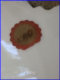 GORGEOUS Antique 19C MEISSEN Cobalt Blue Gold Gilt White Maple Leaf Plate 8 3/4