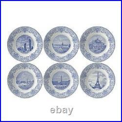 Gien Set of 6 Monuments de Paris Dessert Plates