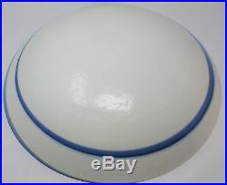 Gorgeous Blue White Ocean Swirl Charger Plate Decorative Designer Art Glass