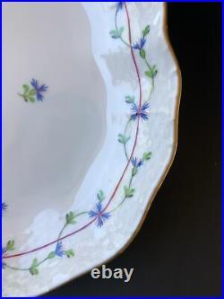 Herend Hungary Blue Garland Oval Serving Plate Dish 221/PBG Handpainted