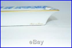 Hermes Butterfly Change tray Blue white Vintage Ashtray Porcelain ME140