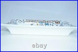 Hermes Cordages Change tray Blue Ashtray rope VIDE POCHE porcelain