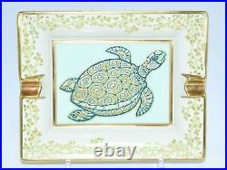 Hermes Turtle Change Tray White gold Porcelain Ashtray tortoise VIDE POCHE