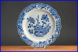 High Level! 18c. Qianlong Lobbed Export Blue & White Plate Chinese Qing Top