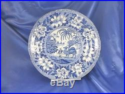 Htf 1837 Dromedary Camel 8 ¾ Blue & White Transfer Ware Plate Pountney & Goldney