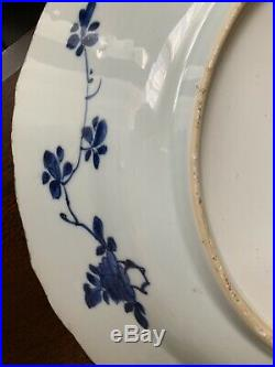 Huge Chinese Blue And White Charger Qing Dynasty Kangxi