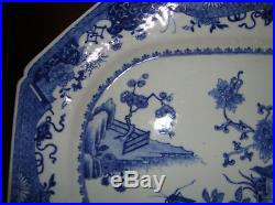 Huge antique chinese porcelain blue white charger platter plate dish qianlong