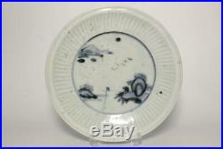 IP16 Early Imari Japanese blue & white porcelain plate Early Edo period withbox
