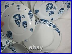 Ikea Promenad Plates Bowls Hot Air Balloons White Blue 11 Pcs #21464
