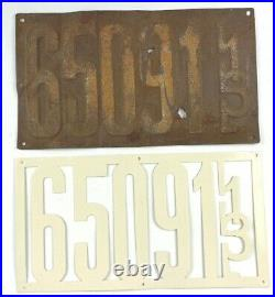 Illinois License Plates 1913 Pair Repair Repaint Antique Car Set Man Cave Gift