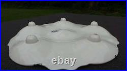 J Vieillard Bordeaux Oyster Plate Footed French Faience 1835-1844 Blue White