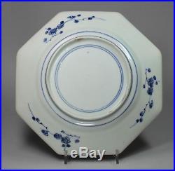 Japanese Arita blue and white octagonal plate