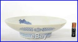 Japanese Blue & White Hirado Nabeshima Style Porcelain Plate Butterfly Flower