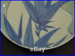 Japanese Blue & White NABESHIMA PLATE EDO 7.1 × 1.8 860g