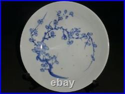 Japanese Blue & white NABESHIMA PLATE EDO 8.1 × 2.4 640g