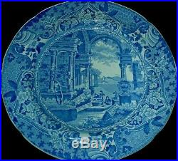 John Carey & Sons 1818-42 Ancient Rome 10 inch Blue/White Plate