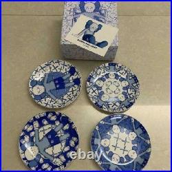 KAWS HOLIDAY Taipei 2019 Ceramic Plate Blue and White Set of 4 Types