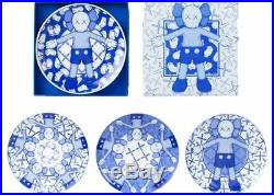 Kaws Holiday Limited Ceramic Plate (Set of 4) Blue/White Taipei Companion NIB