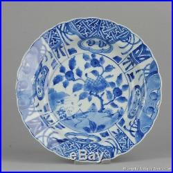 Large 1680-1700 Kangxi Period Kraak Revival Klapmuts Blue White Dish Rare Qing