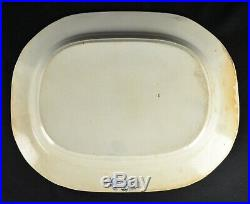 Large Staffordshire Antique Blue & White Transferware Willow Pattern Meat Plate