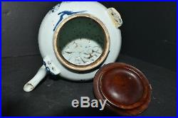 Late Ming Dynasty blue and white porcelain estimated Wanli period teapot
