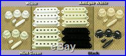 Lindy Fralin Blues Special STRAT Pickup Set WHITE with Bass Plate & FREE Knobs