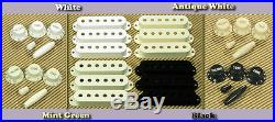 Lindy Fralin Blues Special STRAT Pickups ANTIQUE WHITE with Bass Plate/FREE Knobs