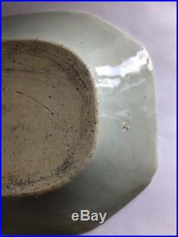 MINT Antique Chinese Export Blue & White Canton 11 Serve Platter