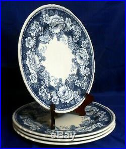 Mason's Ironstone Blue & White Crabtree & Evelyn London 4 Dinner Plates 10-1/2