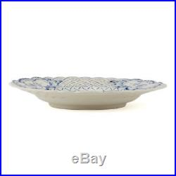 Meissen Blue & White Onion Pattern Reticulated Plate