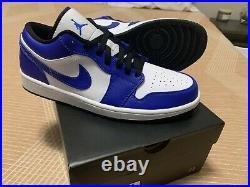 Mens Air Jordan 1 Low Shoes ROYAL BLUE/WHITE (Size 10) High OG 553558-124