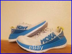 Mens HOKA ONE ONE Carbon X Sizes US 9.5 White Dresden Blue Carbon plate running