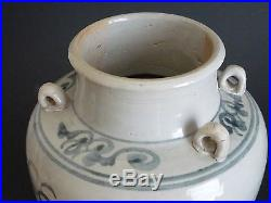 Ming Dynasty blue and white dragon patterns pot