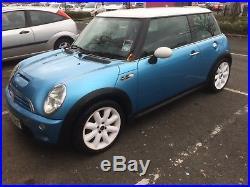 Mini Cooper S Blue And White 52 Plate