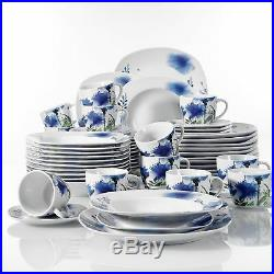 Modern Kitchen Dinnerware Dinner Set Plates Bowls Porcelain Tableware Dining Set