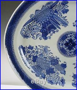 Mt. Vernon Museum Provenance Large Chinese Blue & White Fitzhugh Platter18th C