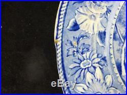 N766 C1820 STAFFORDSHIRE BLUE & WHITE TRANSFERWARE PLATE METROPOLITAN SCENERY k
