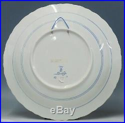 @ NEAR PERFECT @ Porceleyne Fles handpainted blue & white Delft charger Blommers