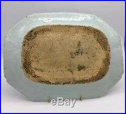 Nanking Blue and White Oriental Porcelain Dish circa 1785