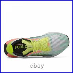 New Balance Womens Fuelcell Echolucent White Yellow Blue Running Shoes WFCELLM