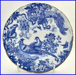 New Royal Crown Derby Blue Aves A1309 Blue & White 4 Piece Teacup/saucer/plates
