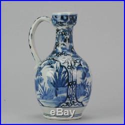 Nice Antique 17th Blue & White Arita Jug Japanese Porcelain Figures Japan