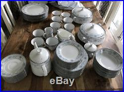 Norilake Blue Hill 60+ Fine China Blue & White Dinner Set Plates Cups Bowls More