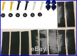 Number Plate Fixing Kit Nut & Bolt Yellow White Black Blue X8 & 10 Sticky Pads