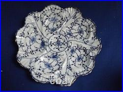 OLD TETTAU Germany Blue White Porcelain ONION/BAMBOO 8 1/4Oyster Plate c1890S#2