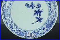 Oct213 Very Rare Kakiemon Aikakkiemonblue&white Porcelain Plate Middle Edo