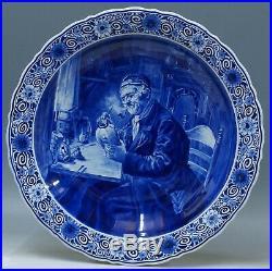 @ PERFECT @ Porceleyne Fles handpainted blue & white Delft charger Cornelis Tulk