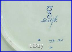 @ PERFECT @ Porceleyne Fles handpainted blue & white Delft charger Israels 1943