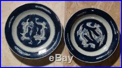 Pair Of Chinese Porcelain Blue And White Dishes Kanghi Period(1662-1722)
